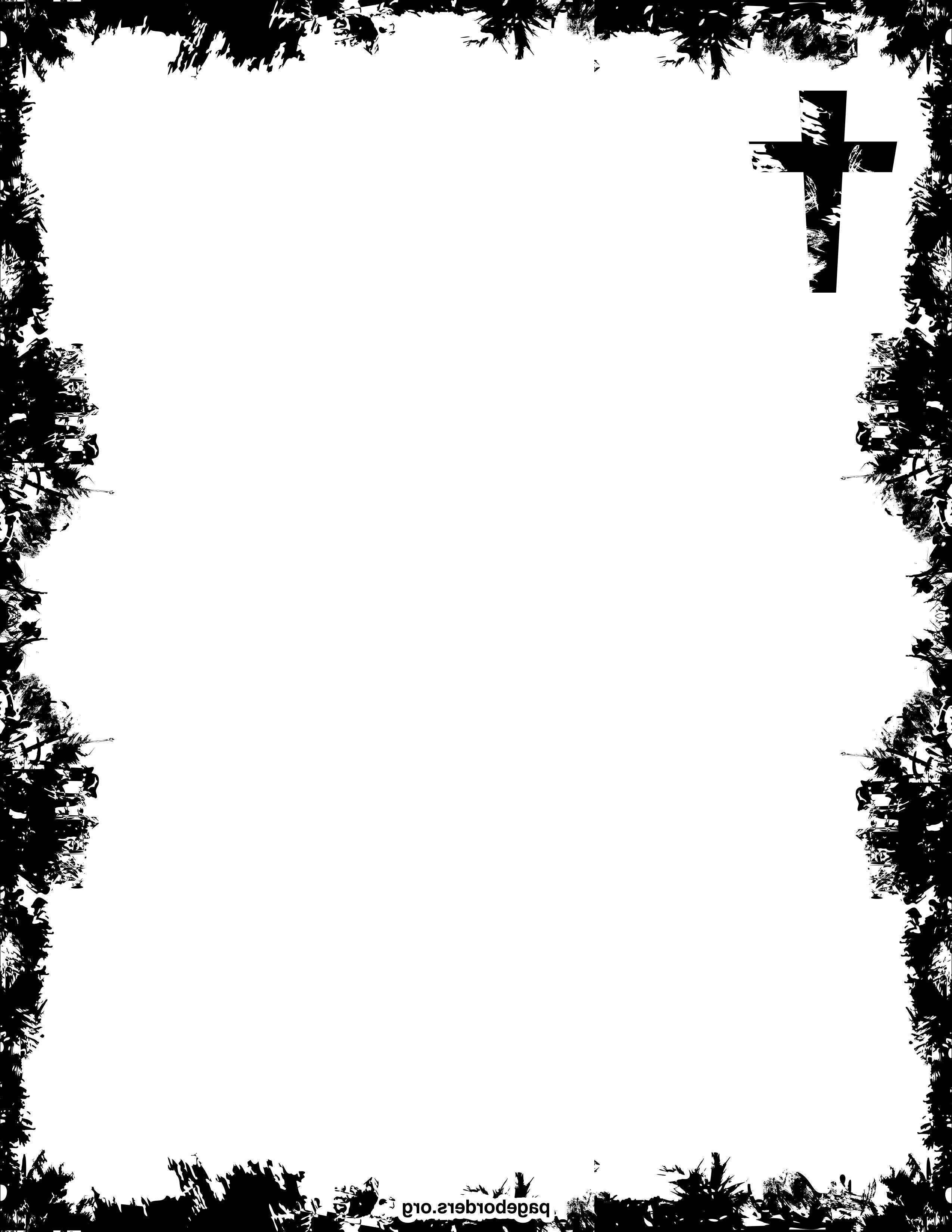 2550x3300 Religious Border Clip Art