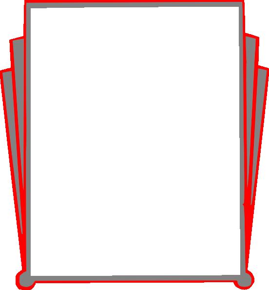 552x595 Decorative Border Pages Book Clip Art