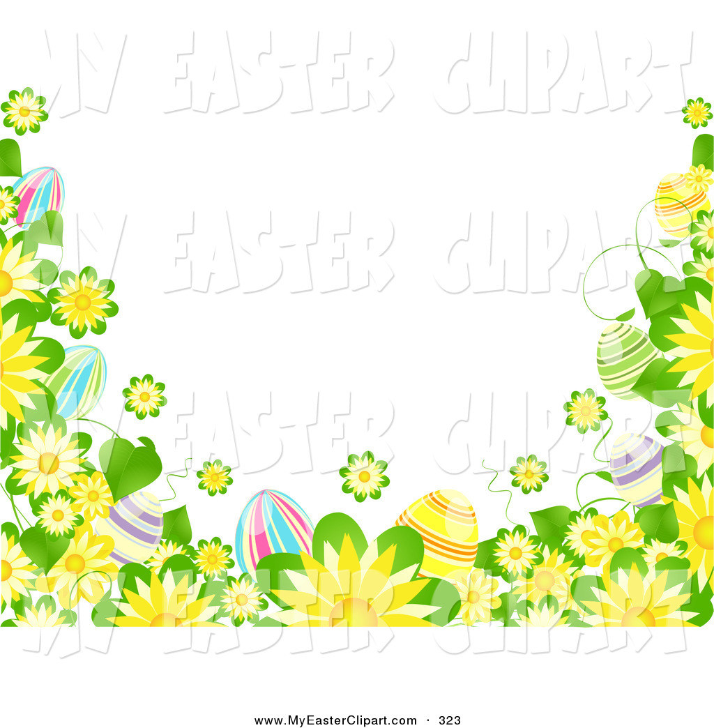 1024x1044 Easter Flowers Borders Clip Art – Happy Easter 2017