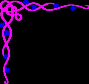 299x282 Pink Blue Flower Border Clip Art