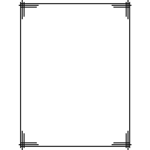 600x600 Simple Frame Clipart