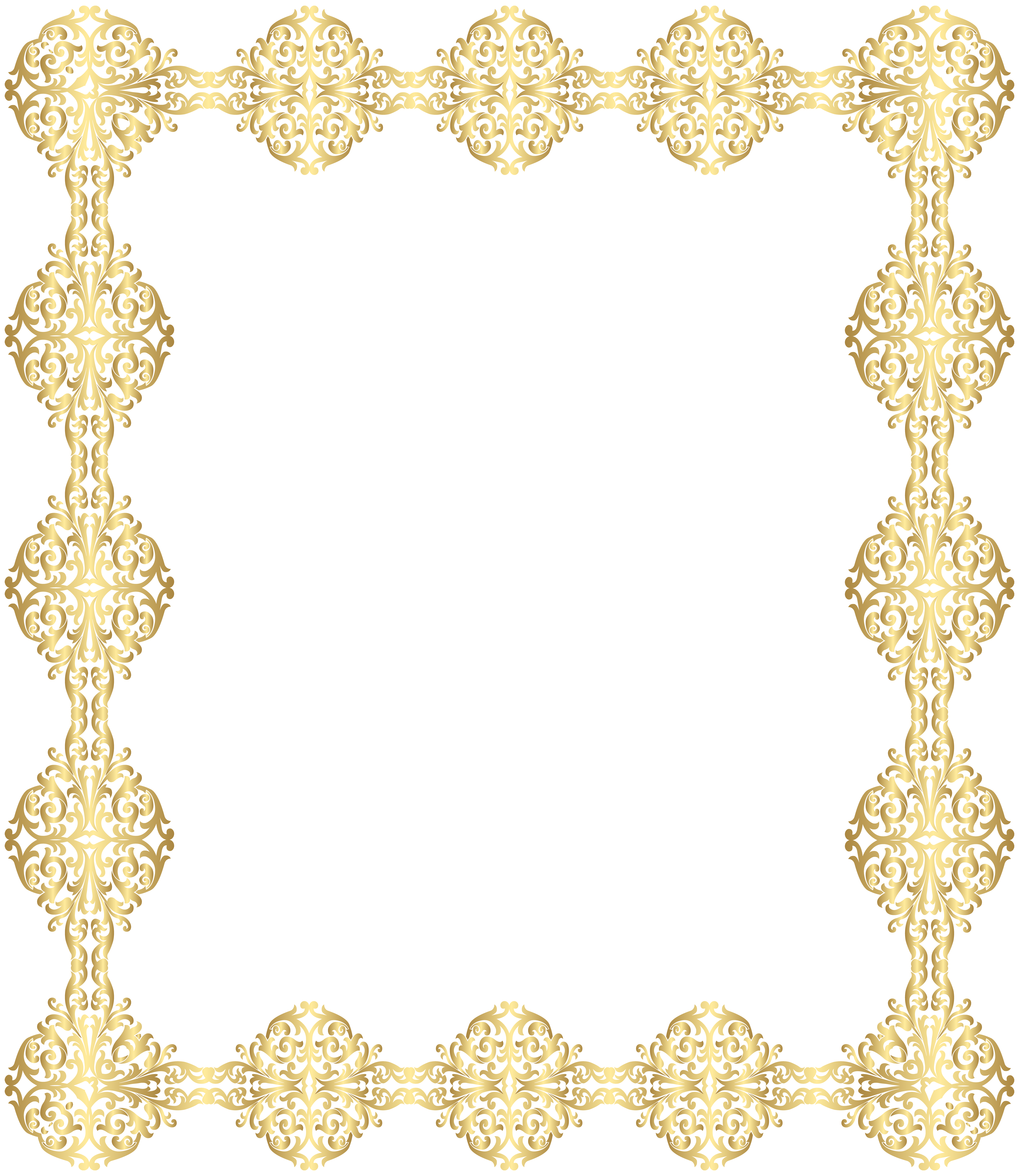6933x8000 Golden Border Transparent Png Clip Artu200b Gallery Yopriceville