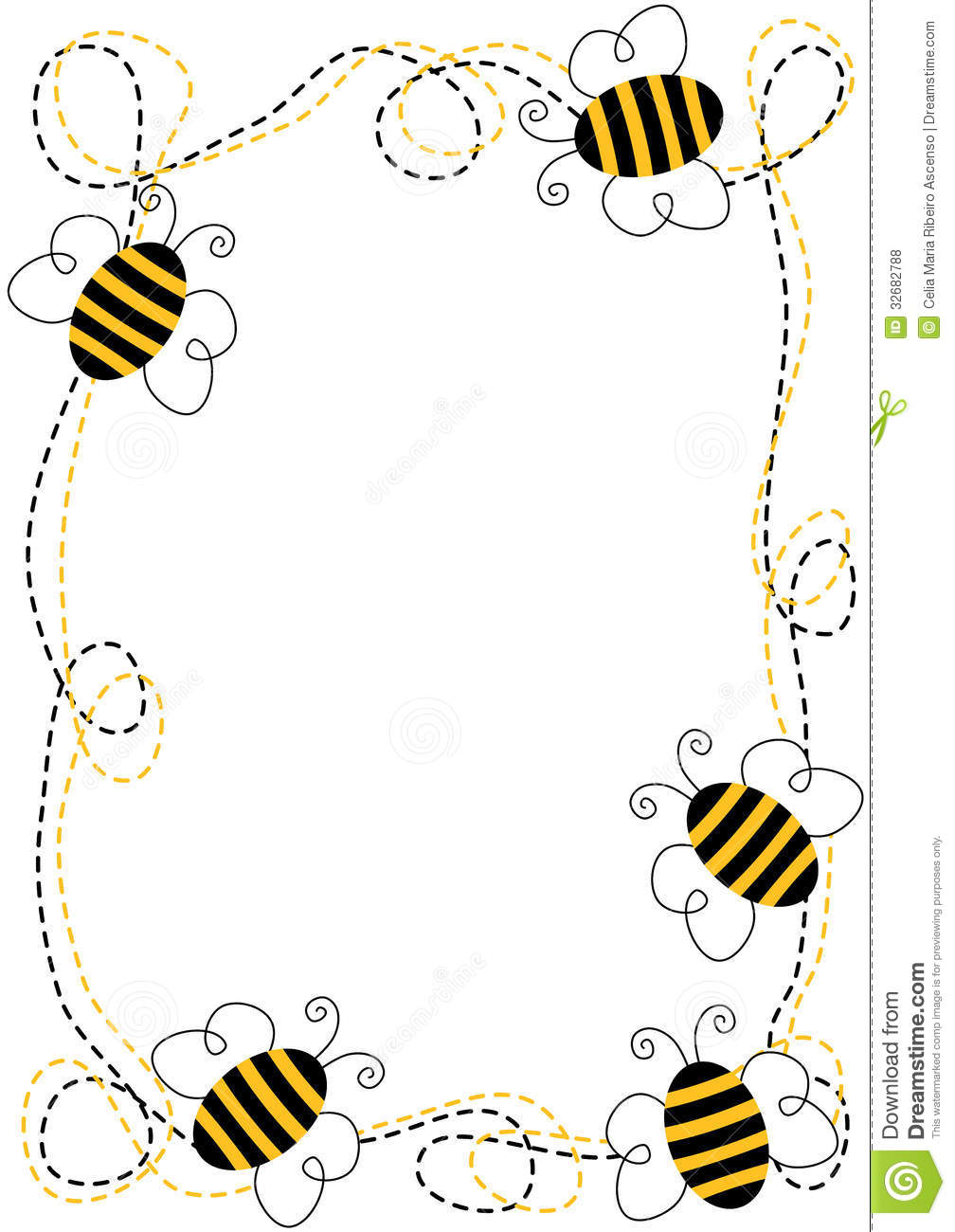 1008x1300 Frame Clipart Bee