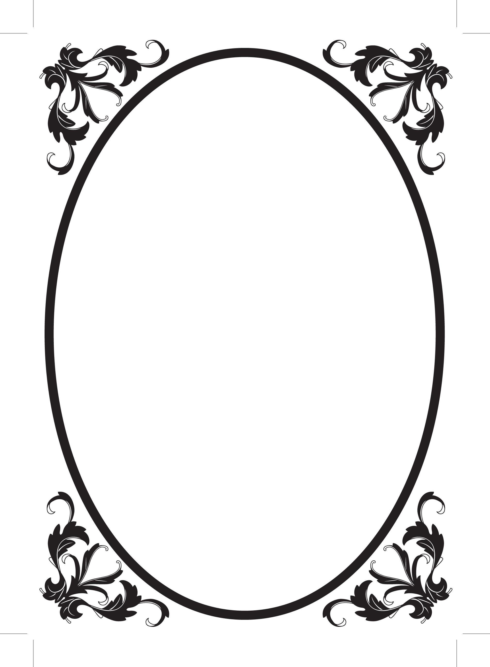 2023x2755 Oval Filigree Frame Clip Art
