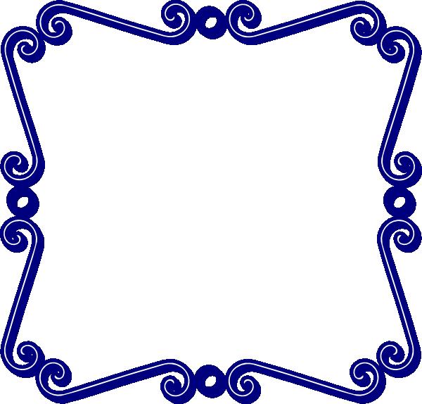 600x574 Swirl Border Clip Art