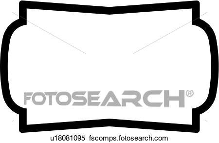 450x293 Clipart Of , Sign, Blank, Border, Basic, Chevron, Rectangle, Panel