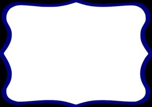 298x210 Dark Blue Clipart Frame