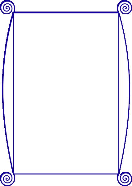 426x597 Navy Borders Clip Art