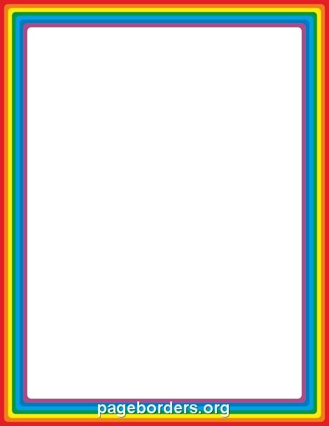 470x608 Top 10 Rainbow Border Clipart