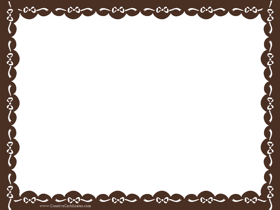 960x720 Border Template For Word