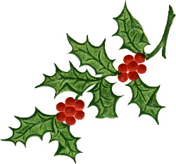 250x233 Free Clip Art Christmas Holly Border