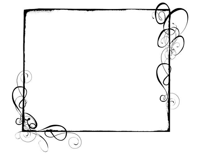 640x494 Swirl Border Clip Art