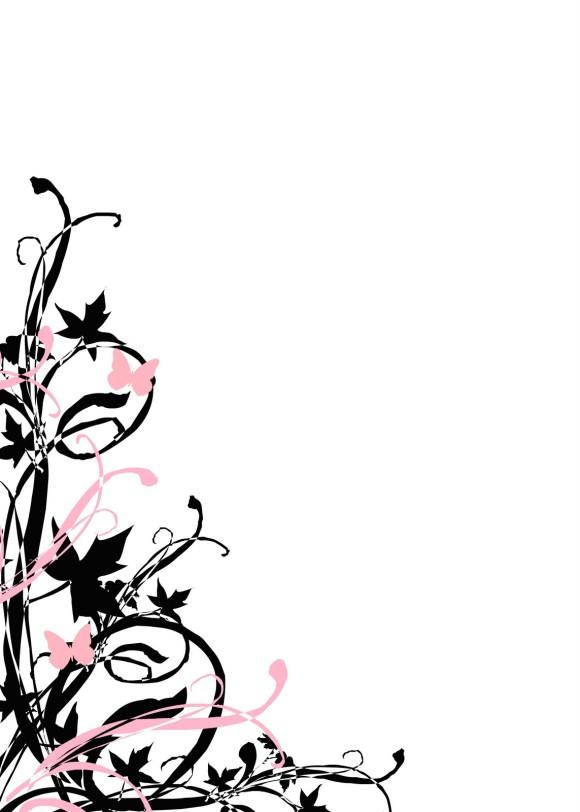 580x812 Bridal Border Clip Art