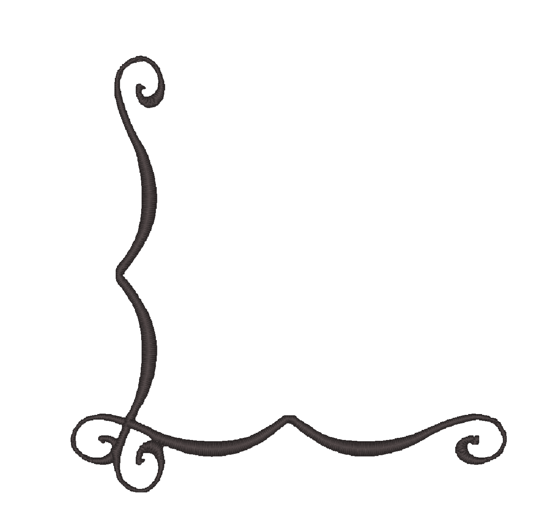 1324x1272 Corner Scroll Clip Art