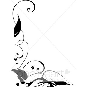 300x300 Leaves Clip Art Black And White Border Clipart Panda