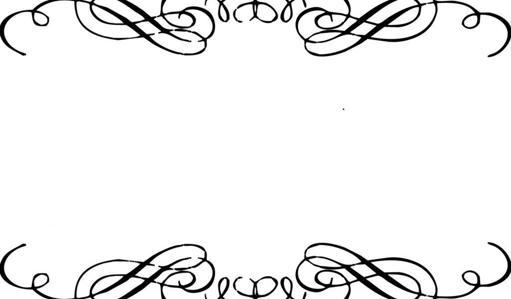 1024x600 Swirl Clipart Border