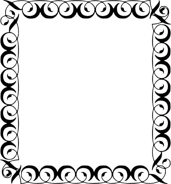 552x596 Borders Clip Art