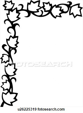 274x370 Flowers Clip Art Border Black And White