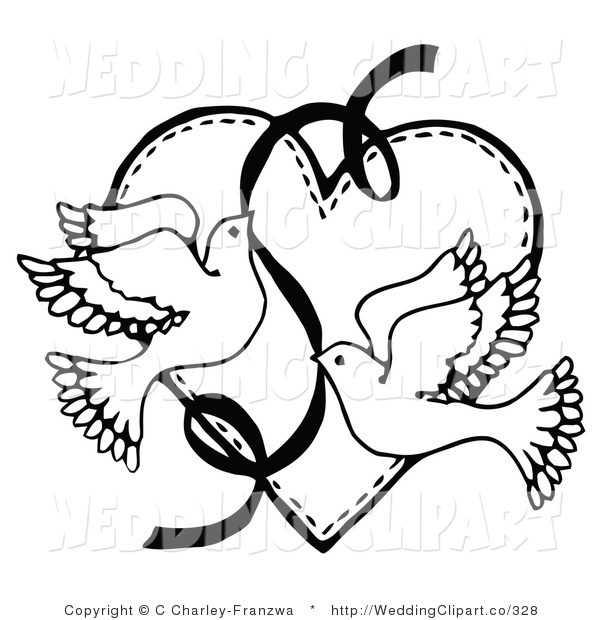 600x620 Wedding Clip Art Black And White Border Clipart Panda
