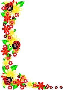 211x300 Printable Ladybug Border. Free Gif, Jpg, Pdf, And Png Downloads