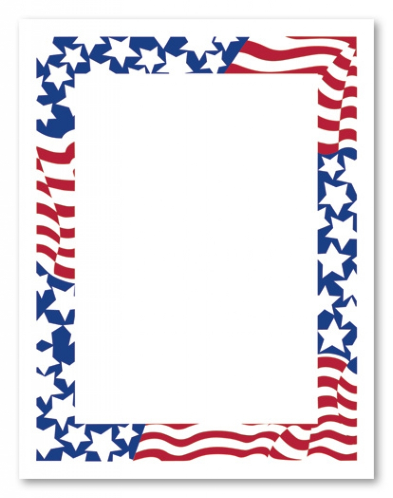809x1024 4th Of July Borders Clipart Clipart Kid Regarding Fourth Of July