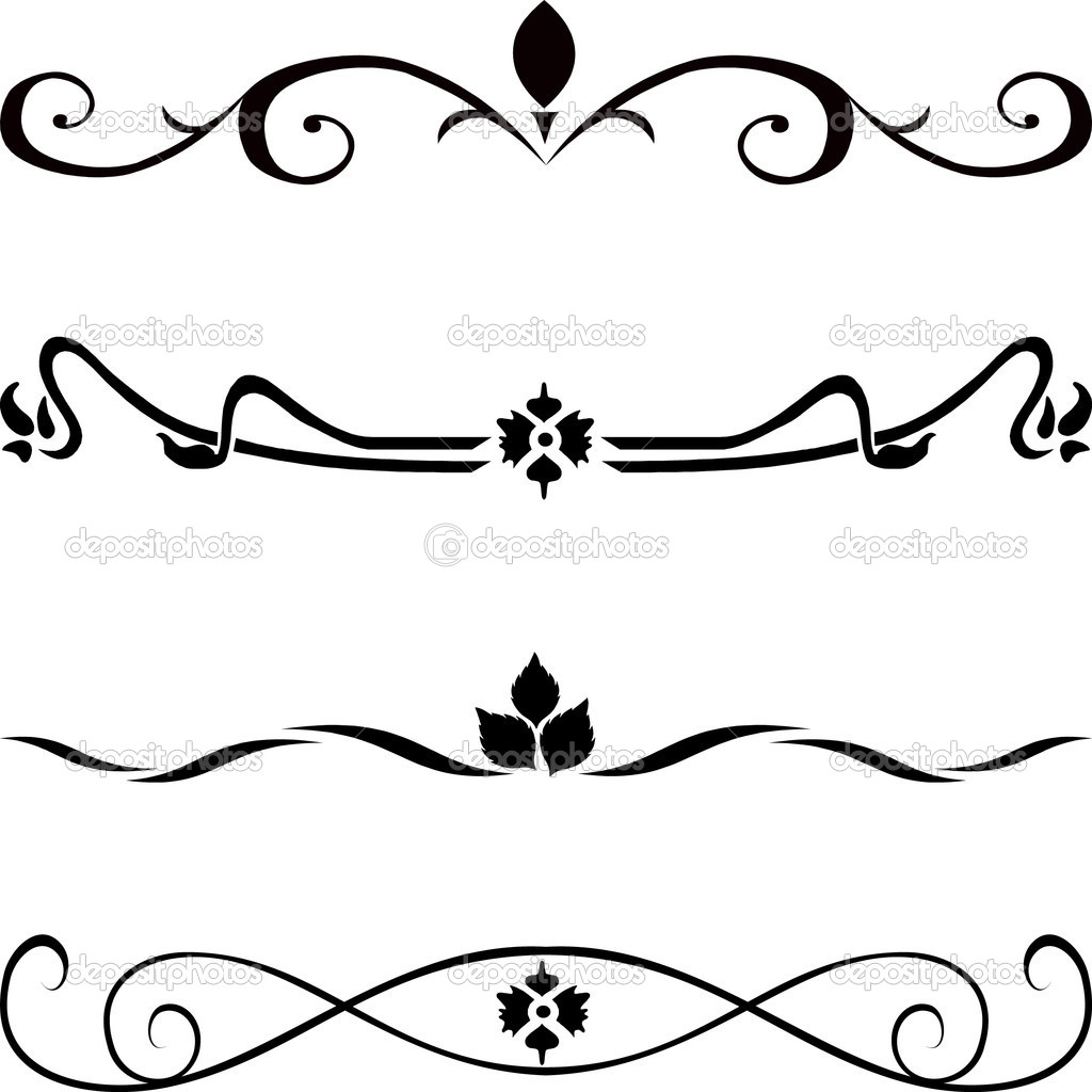 1024x1024 Home Design Abstract Vector Design Elements Borders Stock