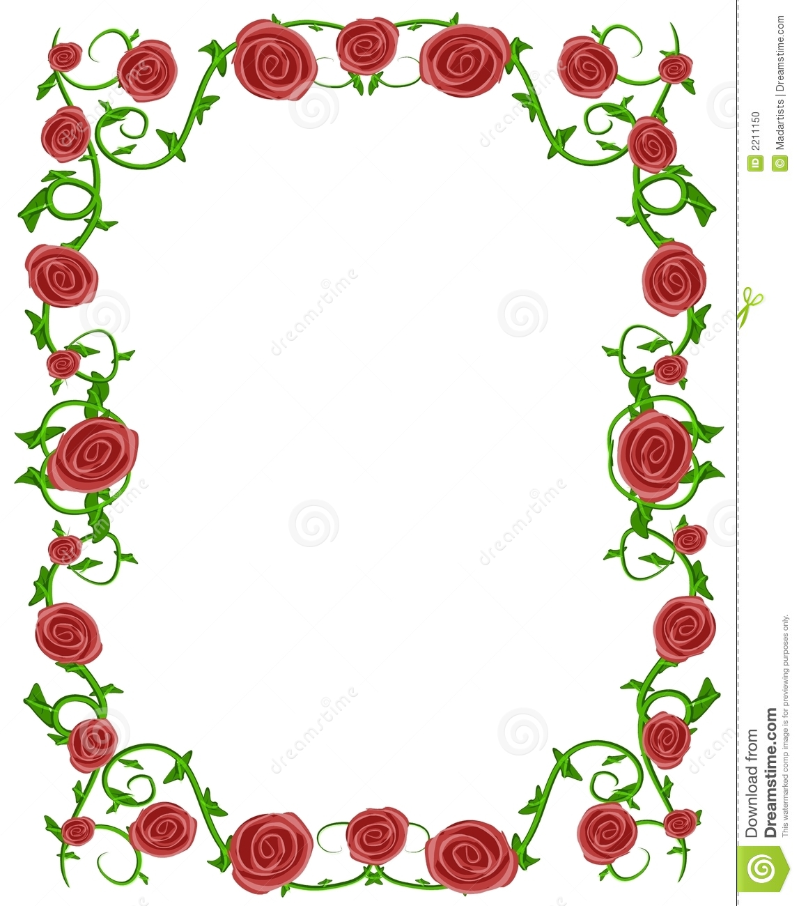 1147x1300 Red Flower Borders Clipart
