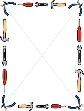 295x388 Tools Borders Clipart