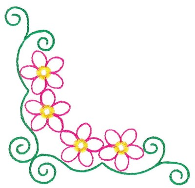 400x386 Floral Borders Clipart