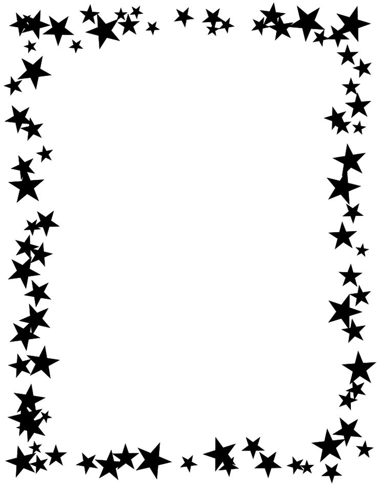 736x952 Clipart Borders Black And White Clip Art
