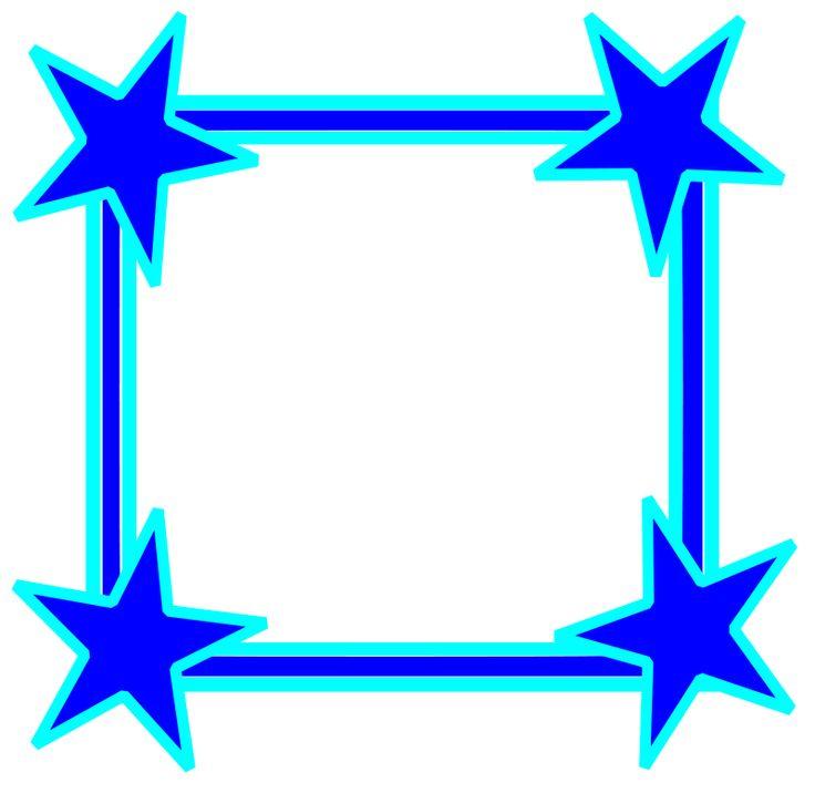 736x716 Blue Borders Clip Art