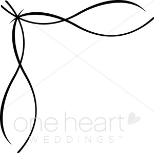 300x299 Clipart Ribbon Border Wedding Flourish