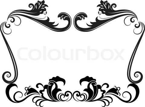 480x356 Frames And Borders Black And White Clip Art