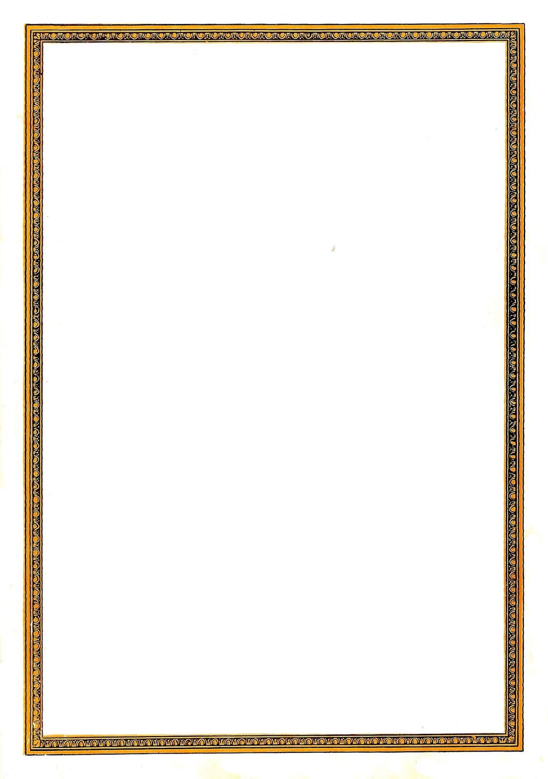 1125x1600 Antique Images Decorative Frame Digital Clip Art Vintage Border