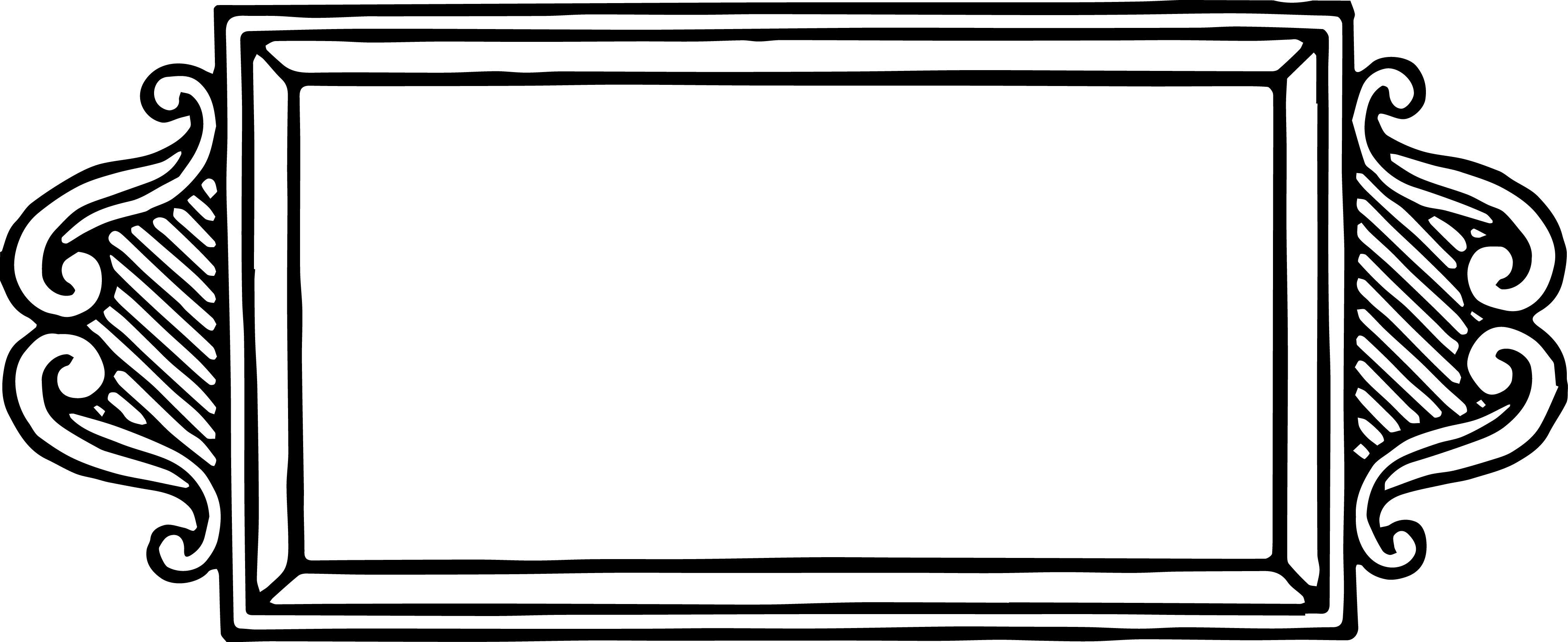 4050x1657 Vintage Frame Border Oh So Nifty Vintage Graphics