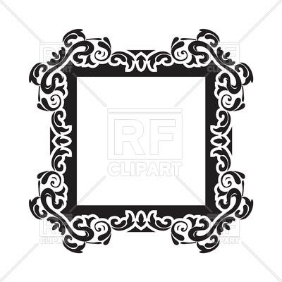 400x400 Vintage Frame Border Royalty Free Vector Clip Art Image
