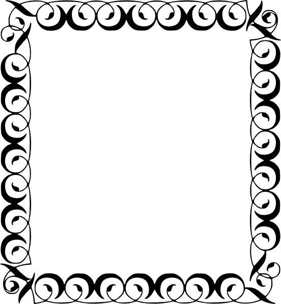 552x596 Borders Clip Art Free Download