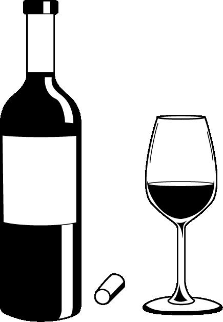 435x628 Liquor Bottle Black And White Clipart