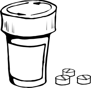 300x288 Pills And Bottle Png, Svg Clip Art For Web