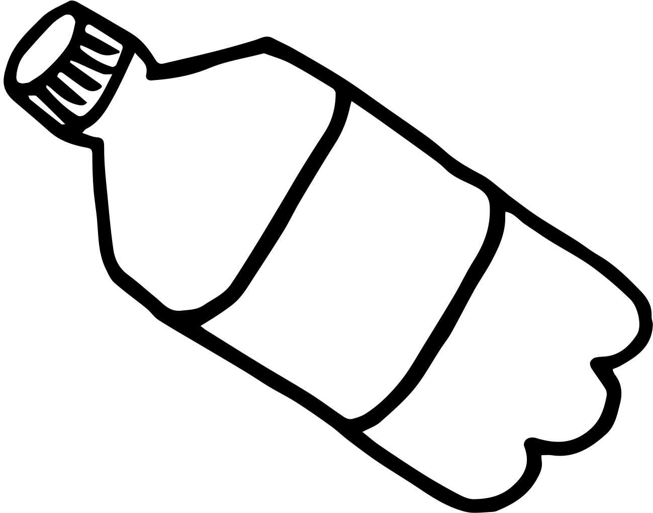 1299x1020 Plastic Water Bottle Black And White Clipart Kid