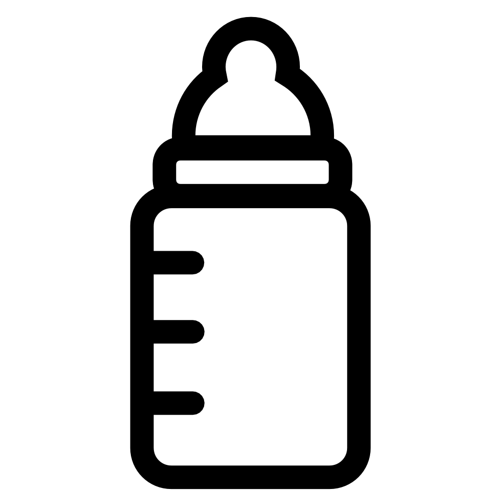 999x999 Baby Rattle Baby Bottle Clipart Black And White Free