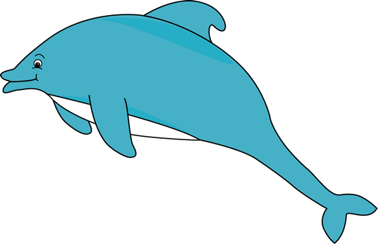 550x355 Bottlenose Dolphin Clipart Cute Baby Dolphin