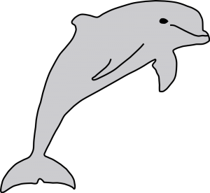 300x276 Dolphin Clip Art Download