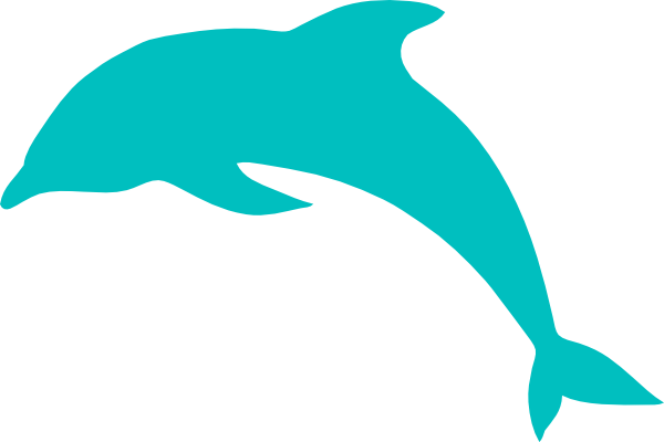 600x400 Blue Dolphin Clip Art