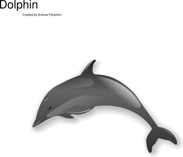 600x514 Jumping Dolphin Clip Art
