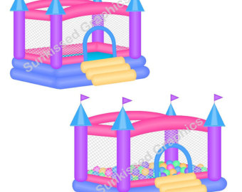 340x270 Bounce House Clipart Etsy