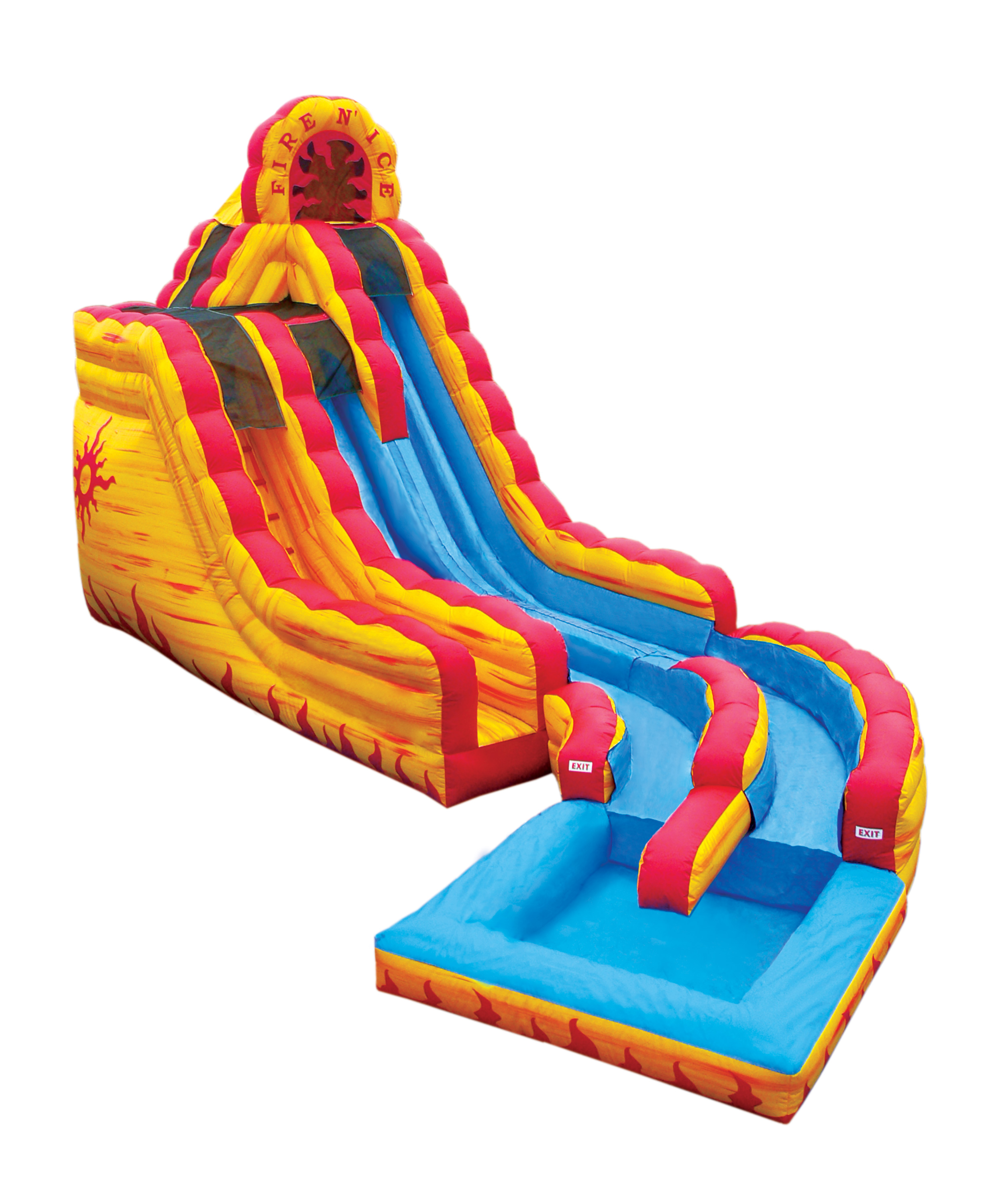 2506x3000 Water Slide Rainbow Bouncer Jumper Bounce House Castle Water