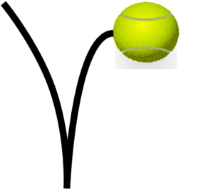 299x270 Tennis Ball Bounce Clip Art