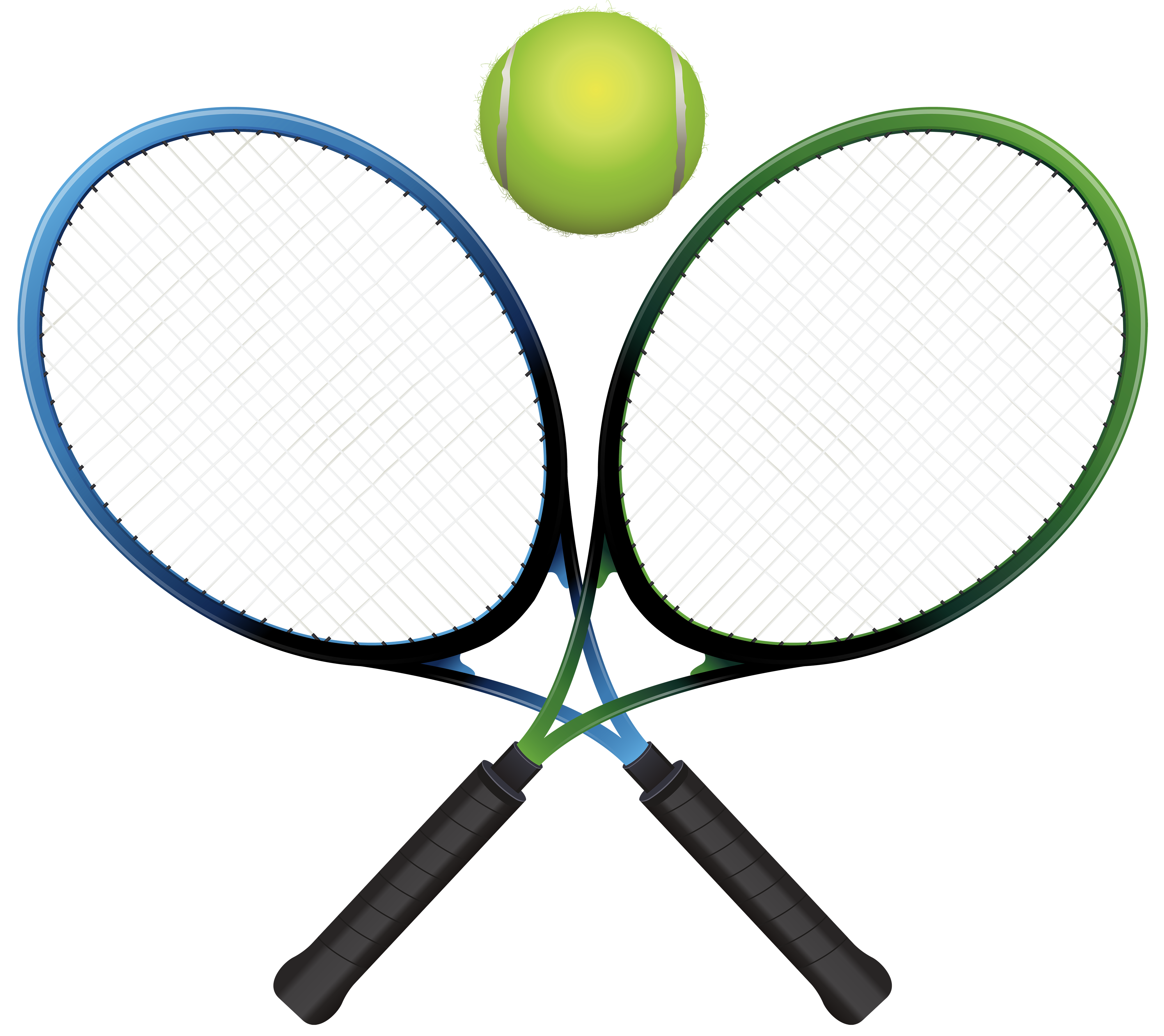 4000x3559 Tennis Ball Clipart Tennis Racket
