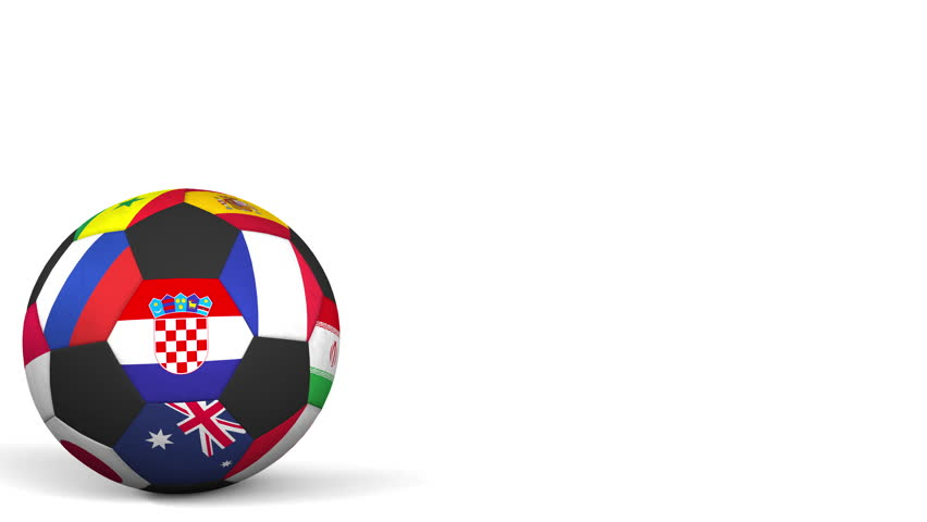 852x480 Bouncing Football Ball Featuring Different National Teams Accents